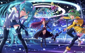 Picture music, scene, guitar, music, guitar, vocaloid, hatsune miku, Vocaloid, Hatsune Miku
