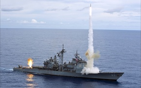 Picture weapons, fire, USA, volley, wallpapers, Weapon
