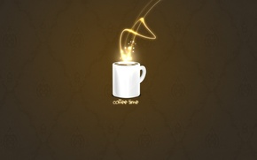 Wallpaper minimalism, coffee, Cup