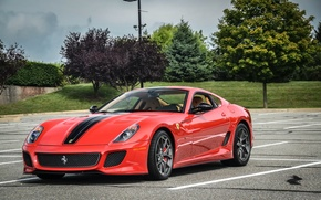 Picture red, ferrari, 599, gto