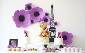 Picture cake, decoration, cake, sweet, cupcakes, cuts