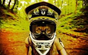 Picture girl, dirt, MTB, I love it, trial, led