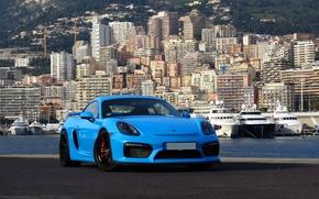 Picture Porsche, Cayman, Blue, GT4