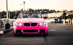 Picture Pink, BMW, Pink, Tuning, BMW, Lights, E92, Angel eyes