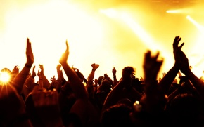 Picture light, music, concert, the audience