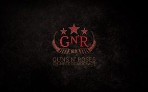 Picture Music, Red, Stars, Music, Black, American Rock Band, Guns EN Roses, Guns N' Roses