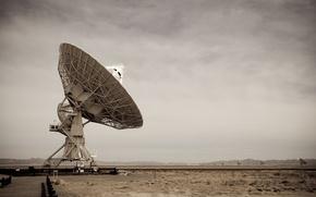 Wallpaper antenna, astronomy, technology, the sky, New Mexico