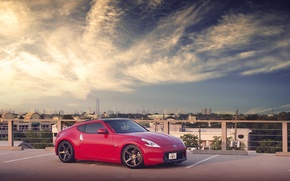 Picture red, Nissan, tuning, 370z