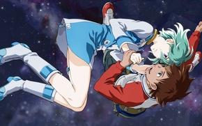 Picture space, anime, art, pair, Eureka Seven