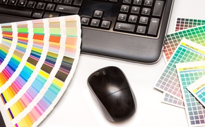 Picture colors, notebook, decoration, mouse