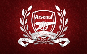 Picture white, red, football, club, coat of arms, arsenal wallpapers