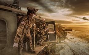 Picture war, soldiers, Vietnam