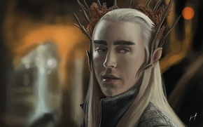 Picture elf, Art, The hobbit, Thranduil, The king of the wood elves