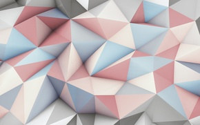 Picture abstraction, texture, the volume, polygons