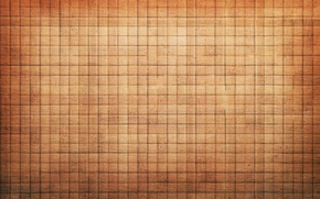 Wallpaper beige, squares, cells, texture, background, light, brown