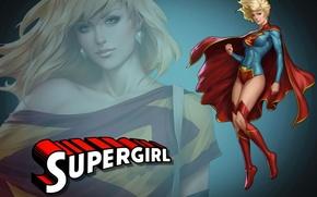 Picture blonde, blonde, superhero, DC Comics, Supergirl, Supergirl
