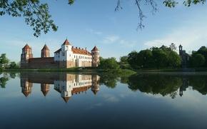 Wallpaper water, castle, Mrs Zamak, Mir castle