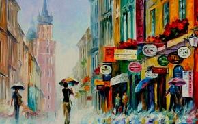 Picture rain, oil, picture, signs
