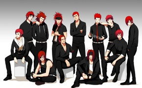 Wallpaper card, anime, art, naruto, headband, guys, naruto, bleach, final fantasy, reno, badou nails, hunter x ...