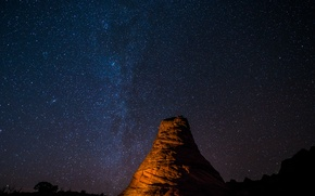 Picture space, stars, The Milky Way, United States, Arizona, secrets, Vermilion Cliffs national monument, The South …
