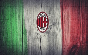 Picture Italy, flag, A.C Milan