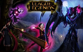 Picture Legends, LoL, Fiora, Morgana, LeBlanc, League, Fizz