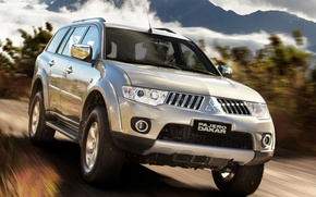 Picture mountains, speed, jeep, SUV, mitsubishi, pajero, Dakar, dakar, Mitsubishi, Pajero