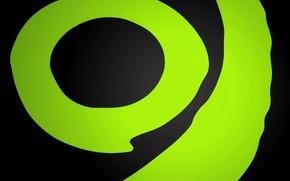 Wallpaper green, xbox, green, round