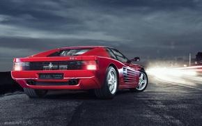 Picture Light, Ferrari, Classic, Night, Testarossa, 512TR, Damian, Exposure