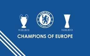 Picture wallpaper, football, England, Chelsea FC, champions of Europe