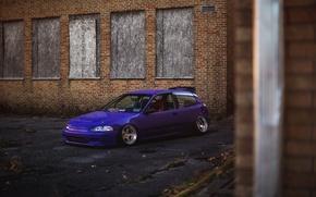 Picture Purple, Honda Civic, civici, stance. Honda