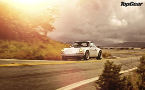 Wallpaper the sun, light, glare, Porsche, Porsche 911, top gear, top gear