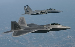 Picture flight, height, raptor, pilots, F-15, UNITED STATES AIR FORCE, Air Force Base, FA-22, langley