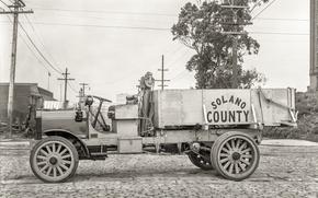 Picture retro, background, truck, classic