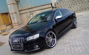 Picture audi, tuning, black, 2010, drives