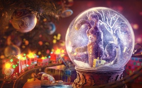 Picture art, rendering, Gleb Alexandrov, christmas final