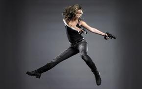 Picture pistol, robot, android, Glock, machine, Terminator, Summer Glau, The Terminator, Cameron, Sarah Connor Chronicles, Sarah …