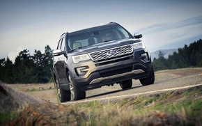 Picture road, photo, Ford, Ford, SUVs, Explorer, 2016