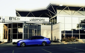Picture BMW, BMW, wheels, side, blue, 335i, vossen, The 3 series, f30