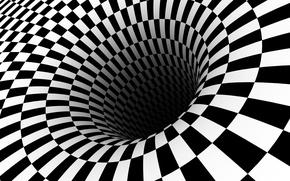 Picture white, black, optical