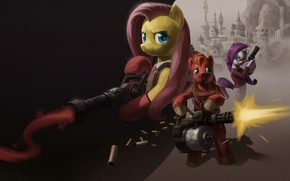 Picture Team Fortress, My Little Pony, MLP, Big Macintosh, Rarity, Fluttershy