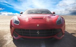 Picture Red, Ferrari, Ferrari, Supercar, Berlinetta, F12, Berlinetta, F12, The front