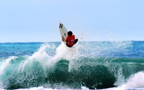 Picture wave, squirt, splash, surfer, surfing, extreme sports, surfboard, Filipe Toledo, Brazilian Storm