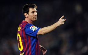 Picture Lionel Messi, Goal, FC Barcelona, The celebration, Camp Nou, Wink