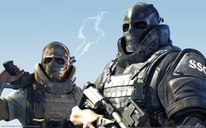 Picture soldiers, mask, army of two
