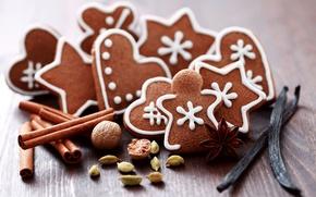 Wallpaper holiday, cookies, sweets, nuts, cookies, macaroon