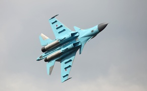 Picture bottom view, bomber, the Russian air force, FULLBACK, SU-34