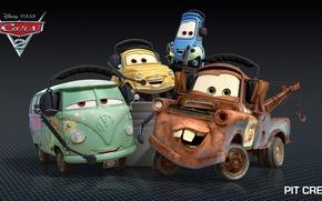 Picture cartoon, cars, pixar, disney, pit crew