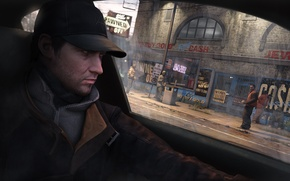 Picture street, cap, Aiden Pearce, watch dogs