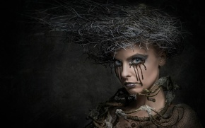 Picture creative, portrait, makeup, hairstyle